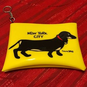 LIKE NEW Marc Tetro Dachshund Pouch with Key Ring, used for sale